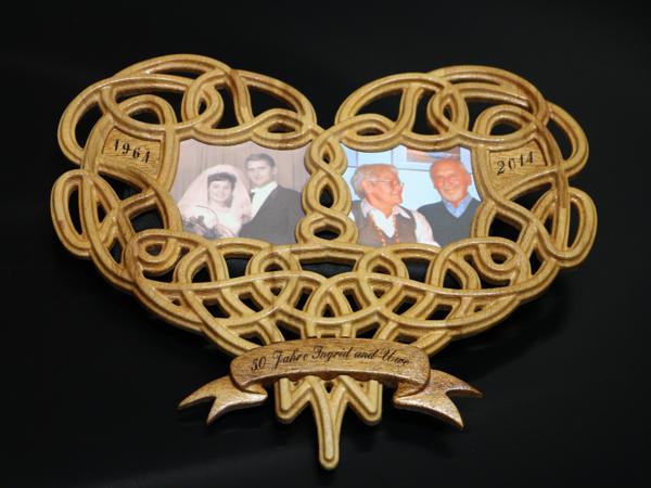 Herz zur goldenen Hochzeit